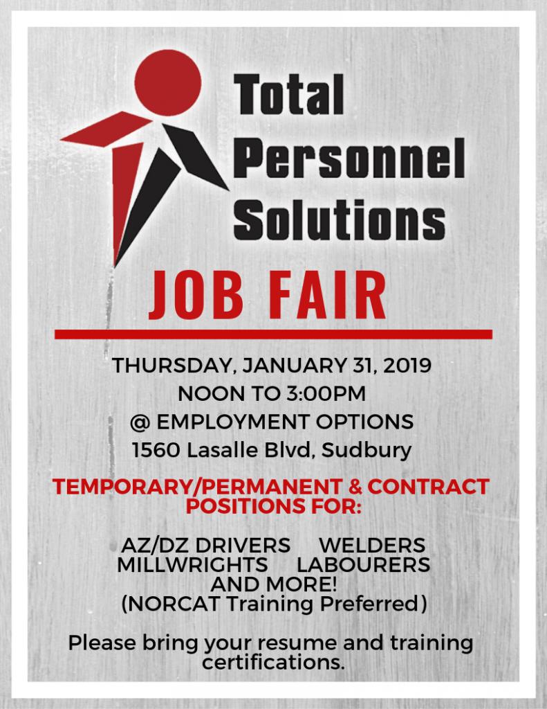 job fair sudbury total personnel solutions